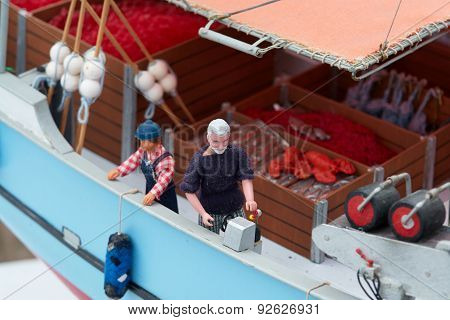 Details Of Scale Model Fishing Boat