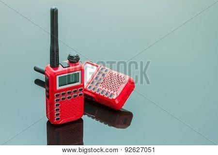 Radio Communication On White Background.