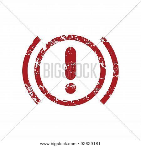 Alert red grunge icon