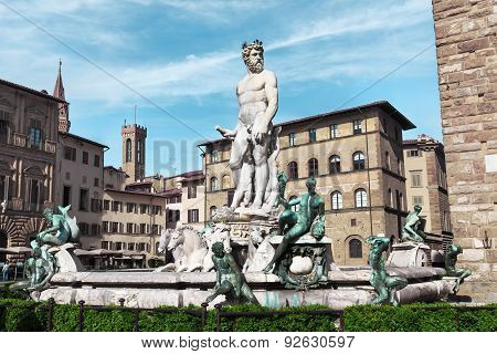 Florence. Fountain Of Neptune