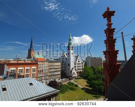 Pomeranian Medical University and Cathedral in Szczecin