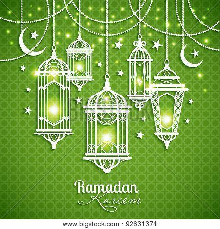 Eid Mibarac Abstract Vector Background