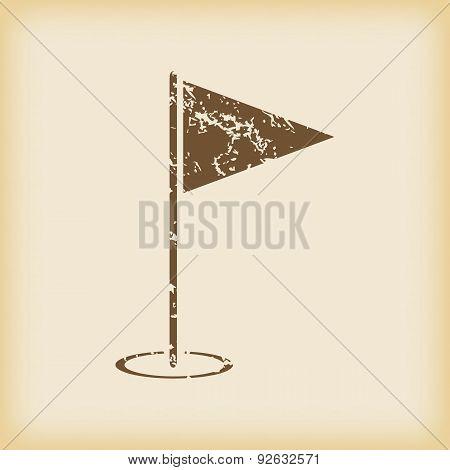 Grungy flagstick icon
