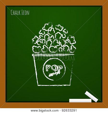 Vector popcorn icon. Eps10