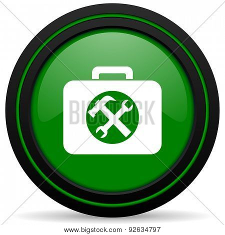 toolkit green icon service sign