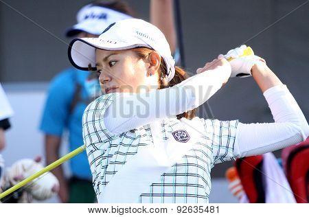 Ai Miyazato At The Ana Inspiration Golf Tournament 2015