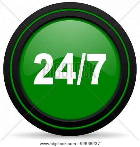 24/7 green icon