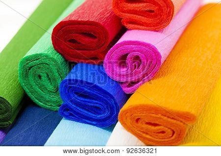 colorful crepe paper