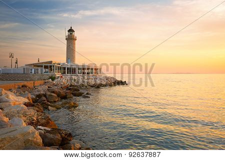 Lighthouse in Patras.
