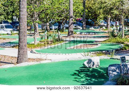 Miniature Golf Course In Tropics
