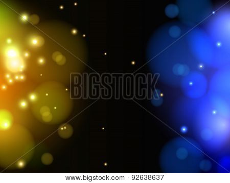 Abstract yellow and blue light vector background