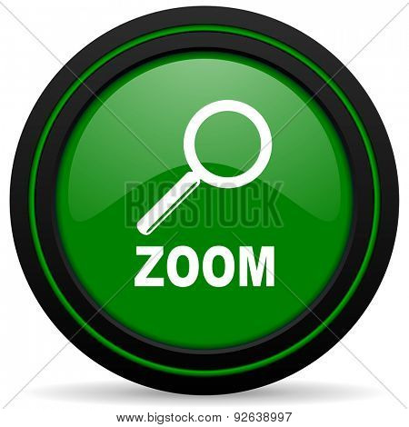 zoom green icon