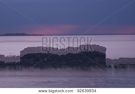 Sunset on the Gulf of Finland , Russia