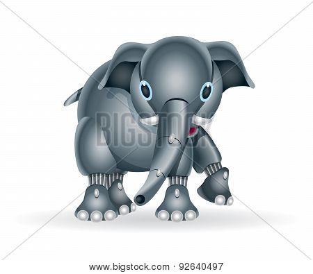 Robot elephant cub