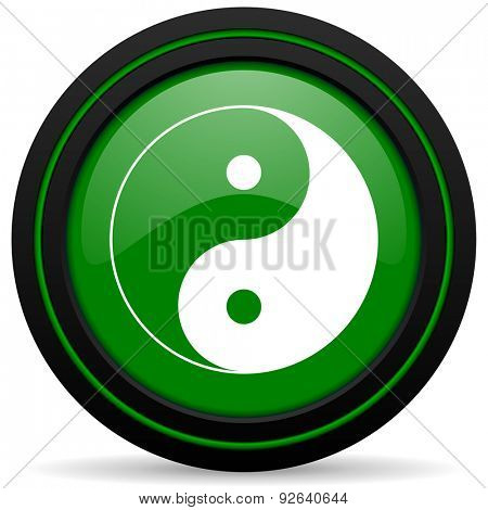 ying yang green icon