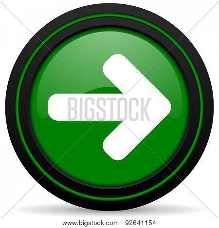 right arrow green icon arrow sign
