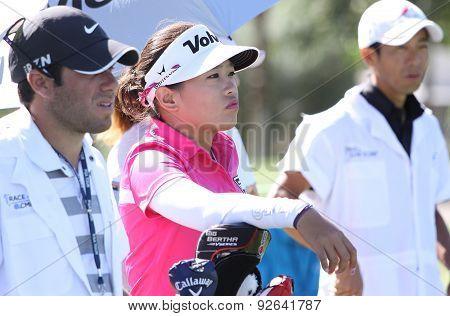 Mika Miyazato At The Ana Inspiration Golf Tournament 2015