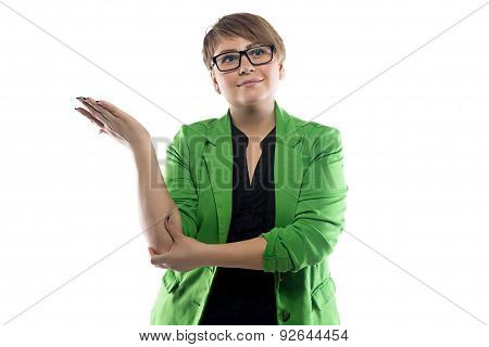 Image of puzzled business woman