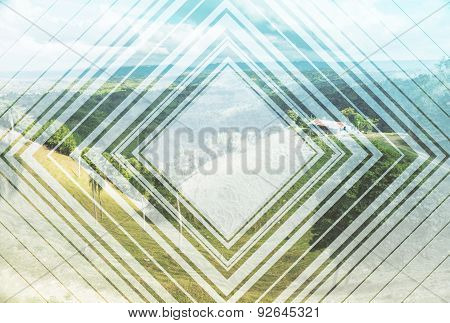 Abstract Picture Of The Italian Landscape.