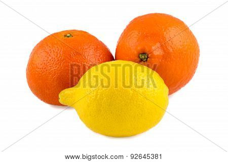 Photo of tangerine, lemon and minneola