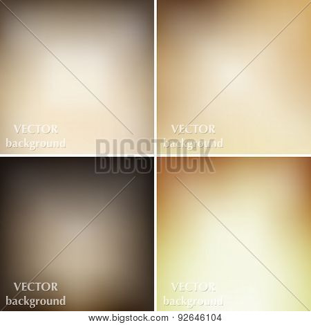 Abstract Blurred Vector Soft Brown Dark Backgrounds. Vector Time Line Template.