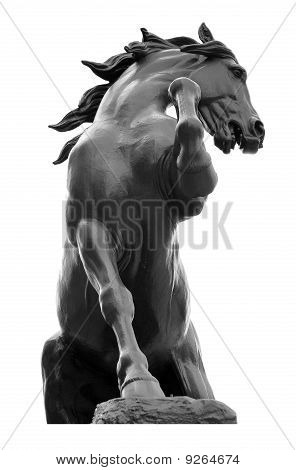A Statue Of A Horse Near The Museum D'orsay, Paris