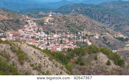 Mountain Village Of Pedoulas, Cyprus