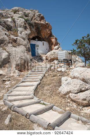 Cave Church Of Agioi Saranta In Protaras, Cyprus