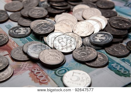 Handful Of Russian Rubles