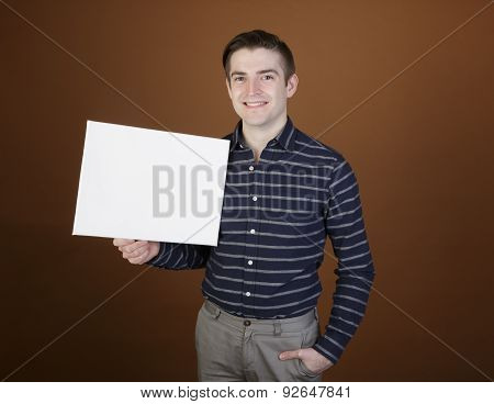 Man Showing A Sign