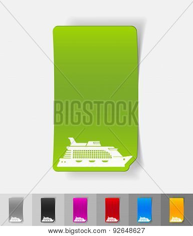 realistic design element. cruise ship