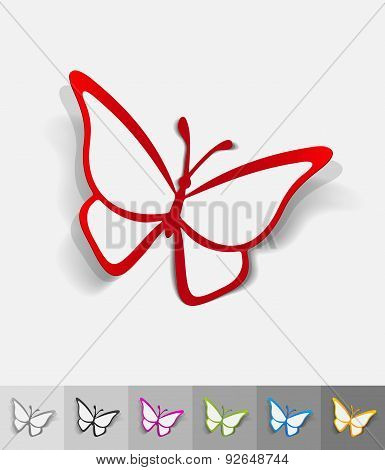 realistic design element. butterfly
