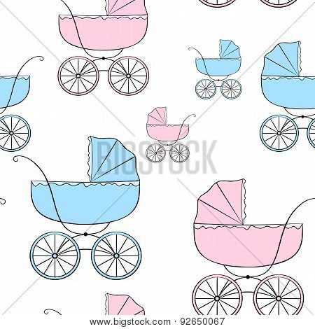 Seamless Pattern With Carriages 2