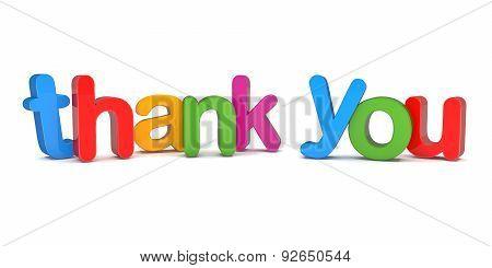 3D Text - Thank You
