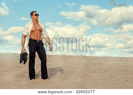 Man In The Desert.