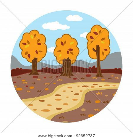 Circle Locations, Little Landscape (autumn Day In The Woods)