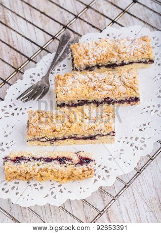 Homemade Cake With Blueberry Marmalade