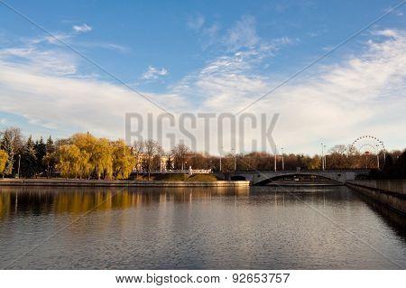 Bridge Over Svisloch River In Minsk