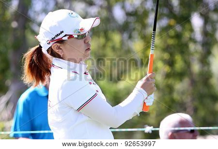 Thidapa Suwannapura At The Ana Inspiration Golf Tournament 2015