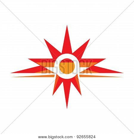 Sun - vector logo concept illustration. Spark logo. Star logo.