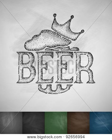 king beer icon