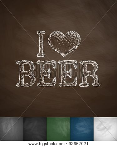 i love beer icon