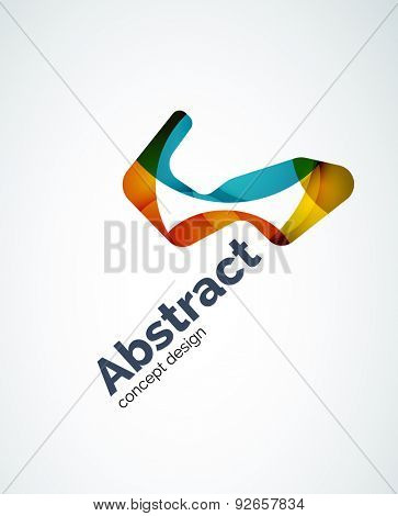 Abstract logo design of color pieces, overlapping geometric shapes.  Light and shadow effects