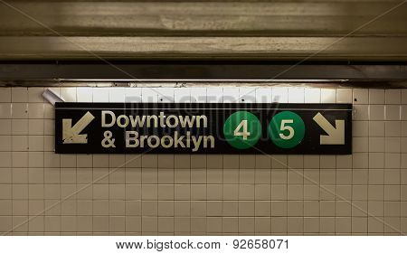 Brooklyn Bridge City Hall Subway Station - New York City