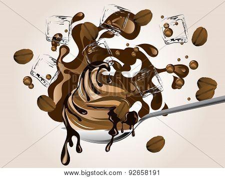 Ice Coffee and ice cream
