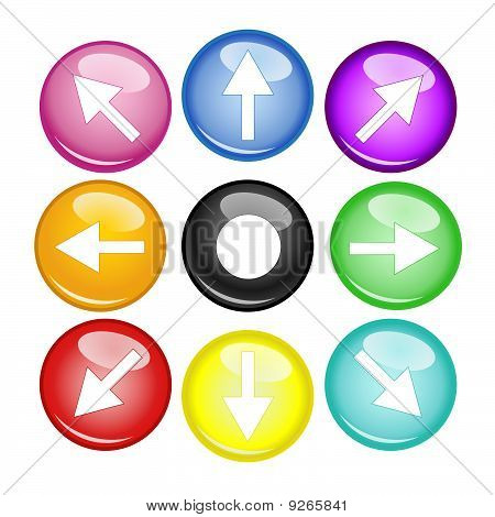Multi Color Arrow And Orb