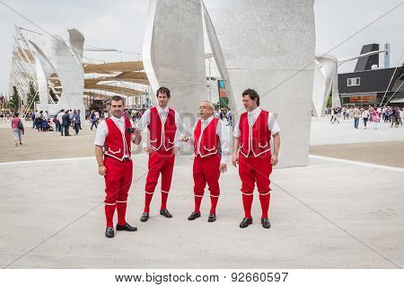 Guys In Their Traditional Clothing At Expo 2015 In Milan, Italy