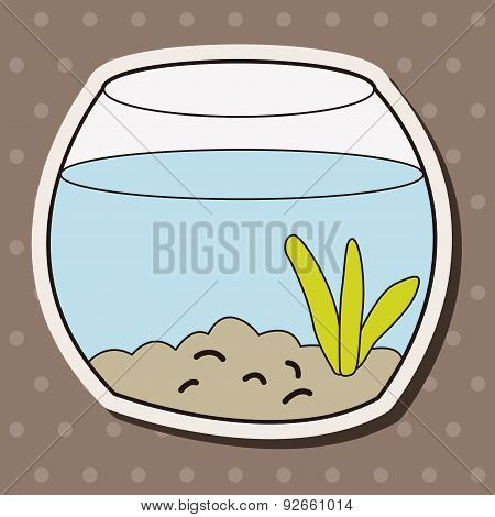 Pet Goldfish Bowl Theme Element Vector,eps10