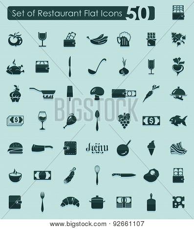 Set of restaurant icons