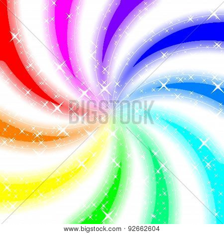 Rainbow Swirl Glowing Background